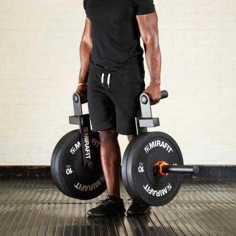 Mirafit Black Olympic Rubber Bumper Plates UK