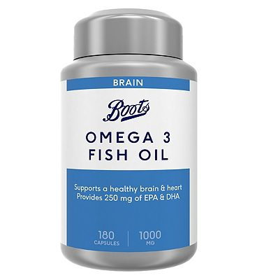 Boots Omega 3 Fish Oil 1000 mg Food Supplement 180 Capsules