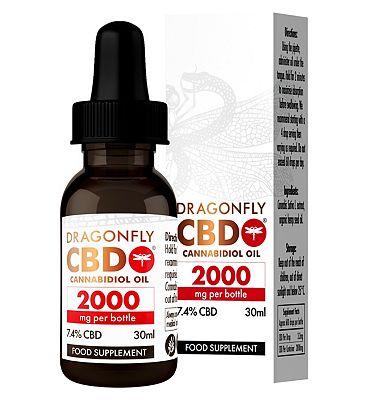 Dragonfly CBD Cannabidiol Oil 2000mg 7.4% - 30ml