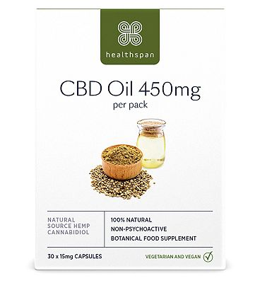 Healthspan CBD Oil 450mg - 30 Capsules