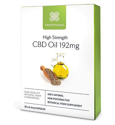 Healthspan High Strength CBD Oil 192mg - 30 Capsules