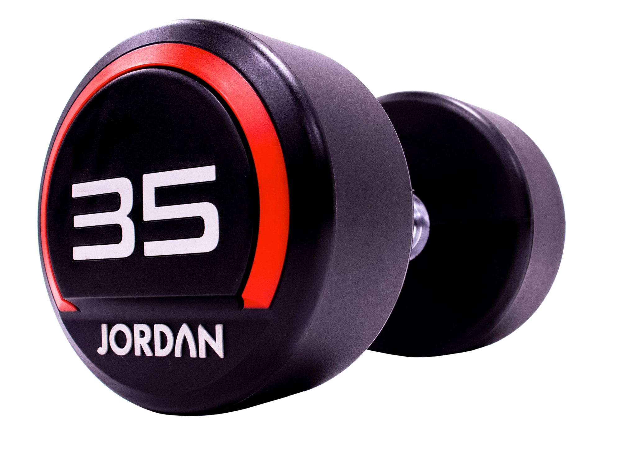 Jordan Premium Urethane Dumbbell Set 65kg-75kg Urethane Dumbbells (2.5kg increments/5 pairs) + Jordan 5 Pair Dumbbell Rack