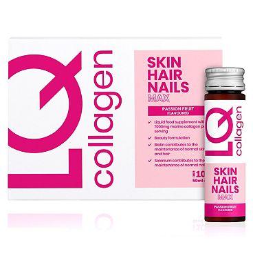 LQ Collagen Skin Hair Nails Max 10 x 50ml Bottles
