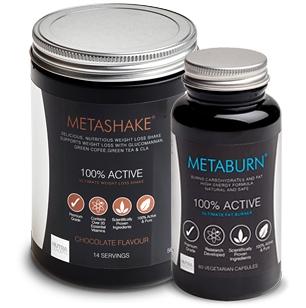 Metaburn Fat Burner & Metashake Weight Loss Shake 1 bundle