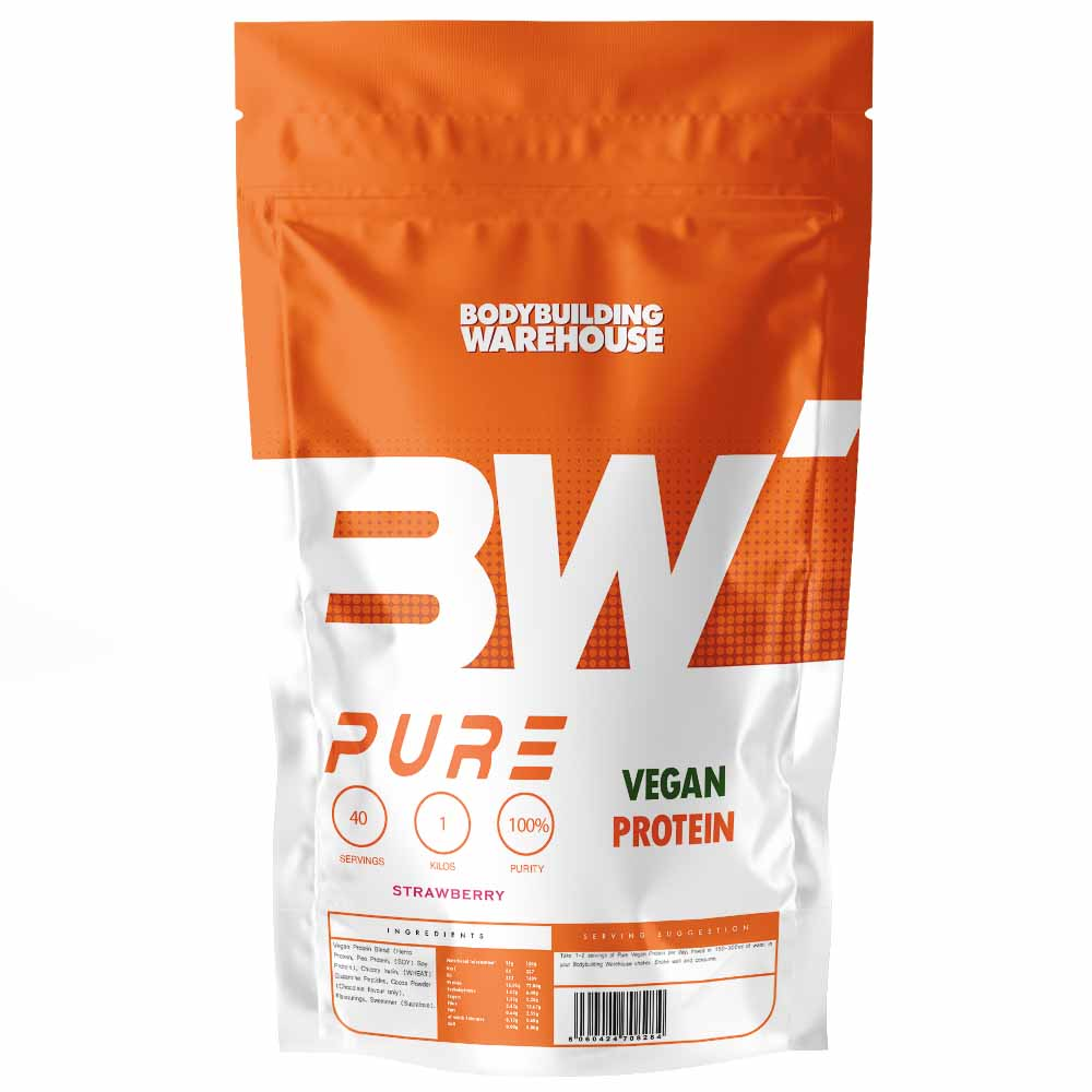 Pure Vegan Protein - Banana 1kg - Protein Powder - Bodybuilding Warehouse