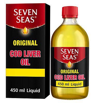 Seven Seas Original Cod Liver Oil Plus Omega-3 Fish Oil 450ml