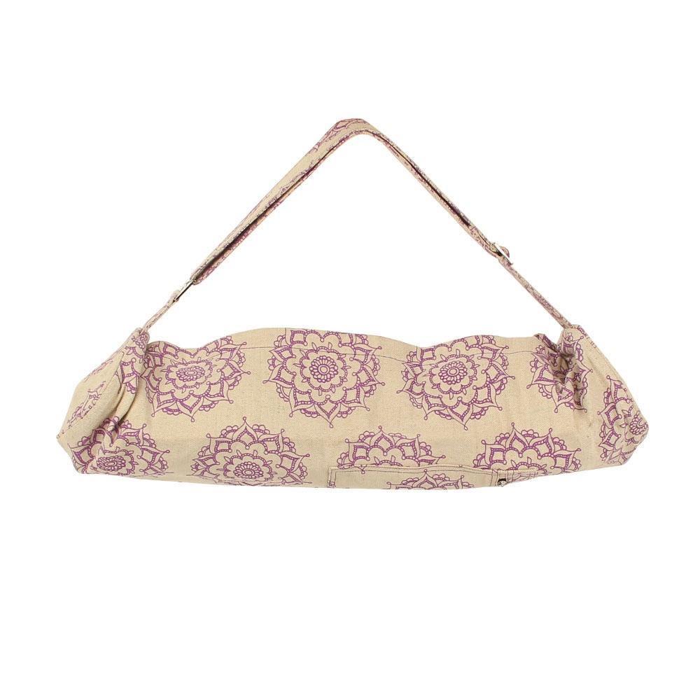Yoga Mad Jute Cotton Yoga Patterned Mat Bag